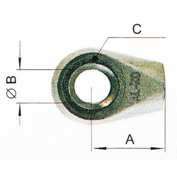d) Auge 10x16, M8