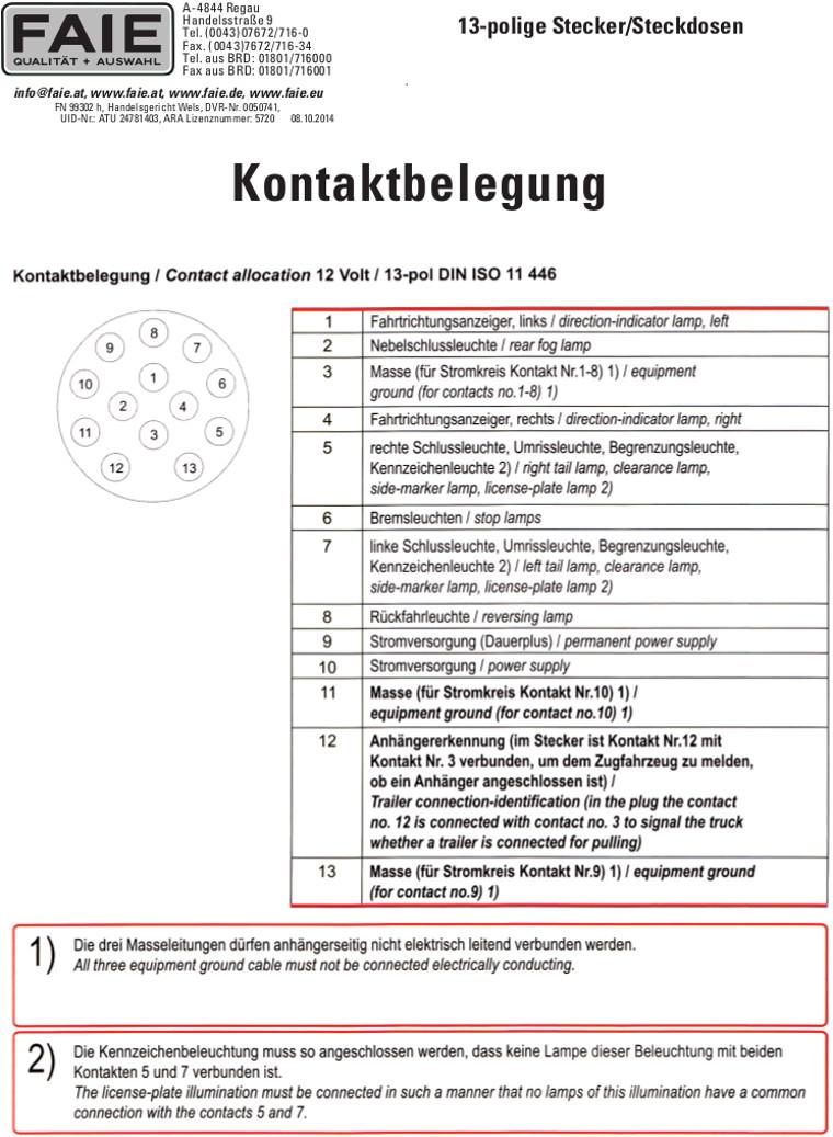 Niedlich 7 Polige Verkabelung Für Anhänger Fotos - Elektrische ...