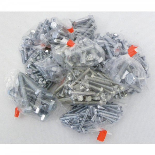 Sechskant-Stahlschrauben Sortiment