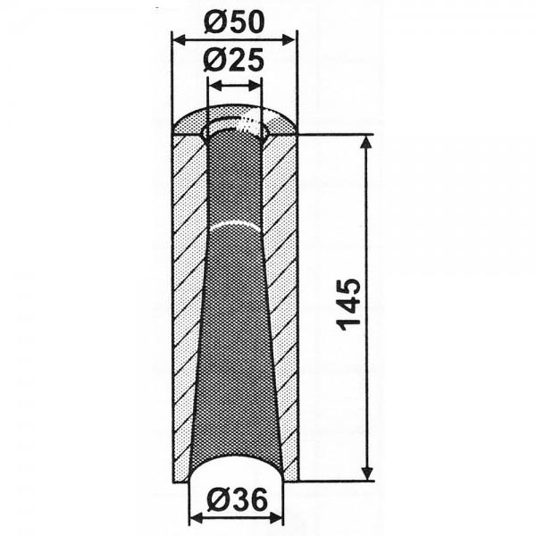 Einschweißbuchse 145x50 mm