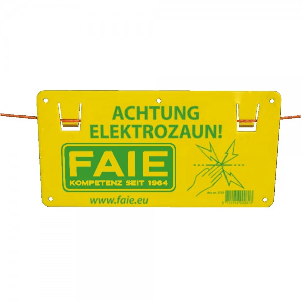 Warnschild Elektrozaun