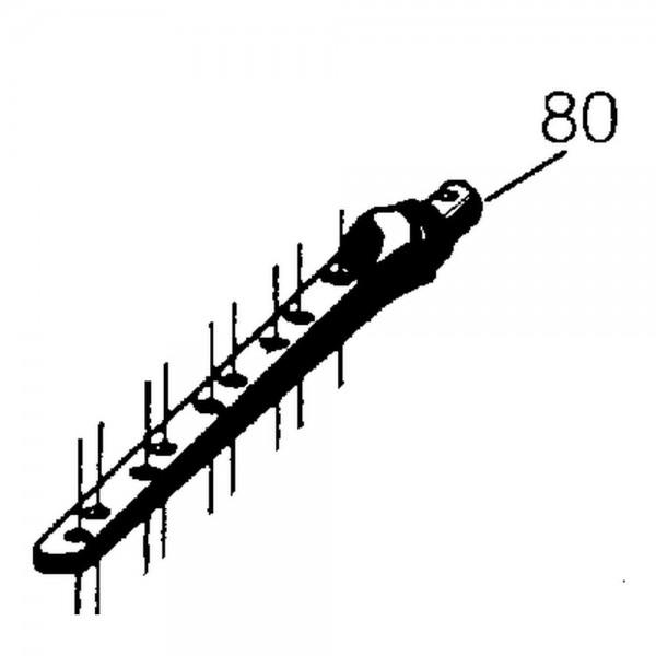 Obermesserkopf, L=400 mm, Zapfen-Ø 18 mm,
