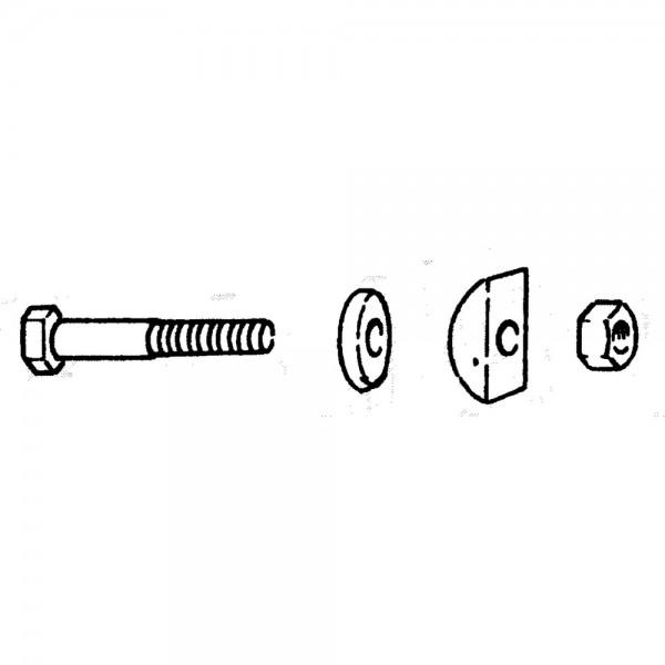 Zinkenhalter M12x50 zu Deutz-Fahr, Pöttinger