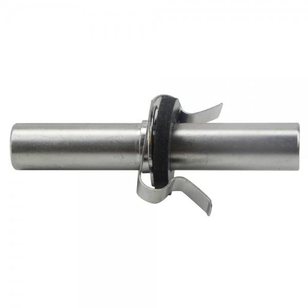 Anschlussröhrchen mit Klammer für Vakuumventil