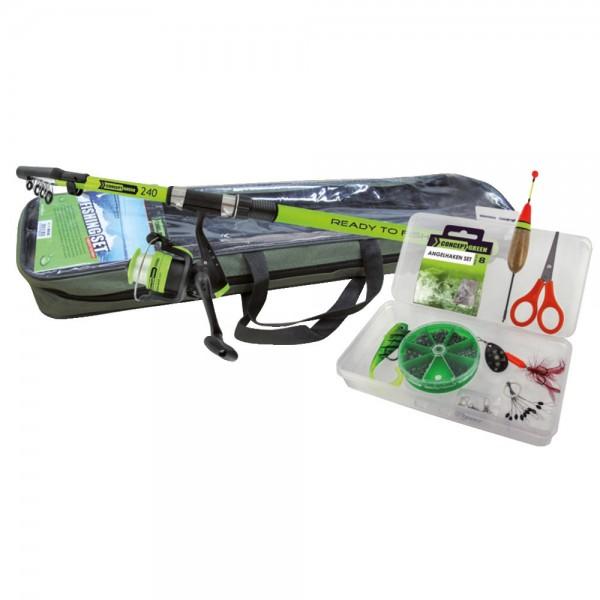 Tele Ruten Combo Green Concept Ready to fish – Ruten-Set inklusive Rutentasche