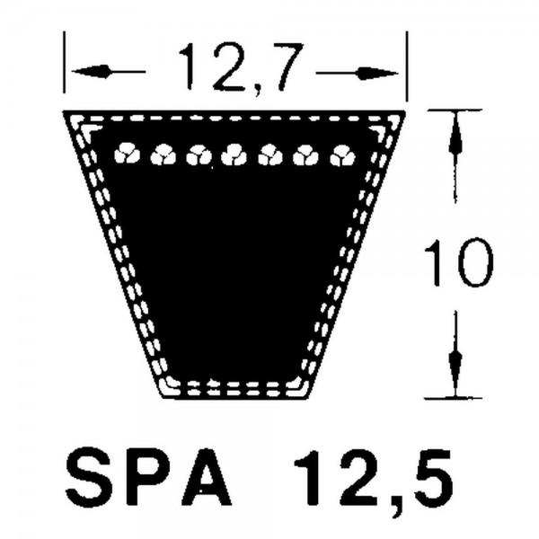 Keilriemen Profil 12,5 mm SPA