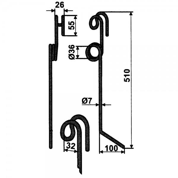 Hackstriegelzinke Ø7mm passend zu Einböck
