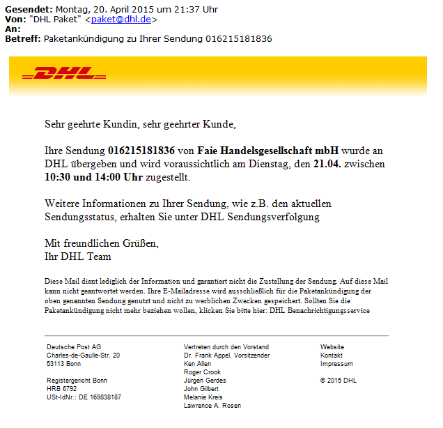 DHL-Mail