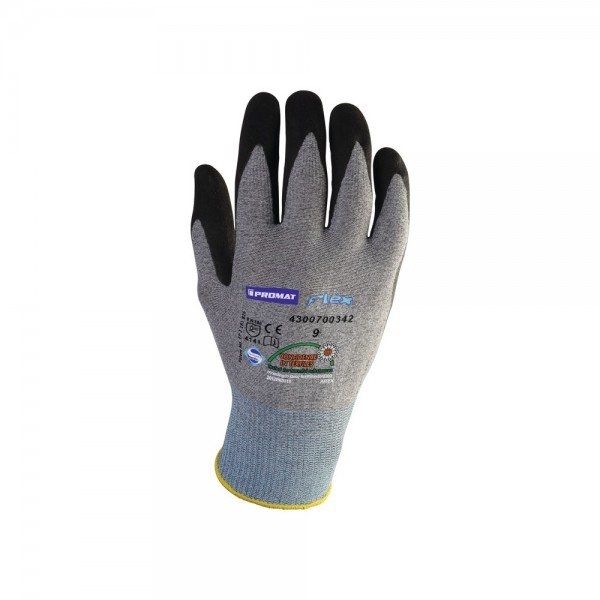 Handschuhe Flex N Größe 10 grau/schwarz EN 388 Kategorie II