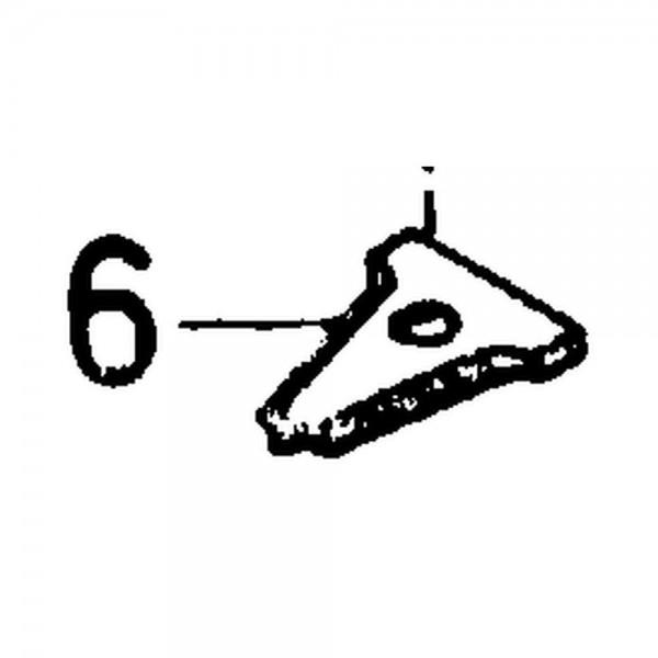 Fingerplatte gezahnt, Stärke 2,6 mm