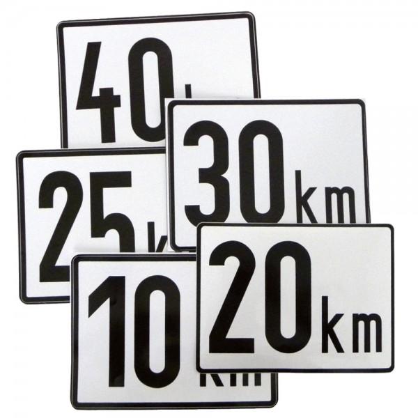 Geschwindigkeitstafel Klebefolie, 200x150mm